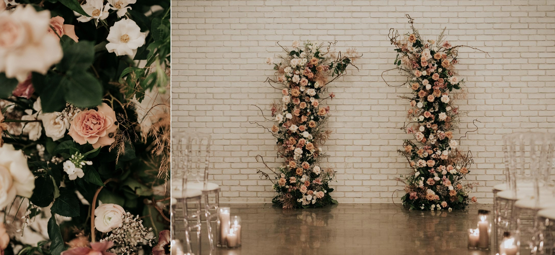 Floral arch Eglinton West Gallery Wedding